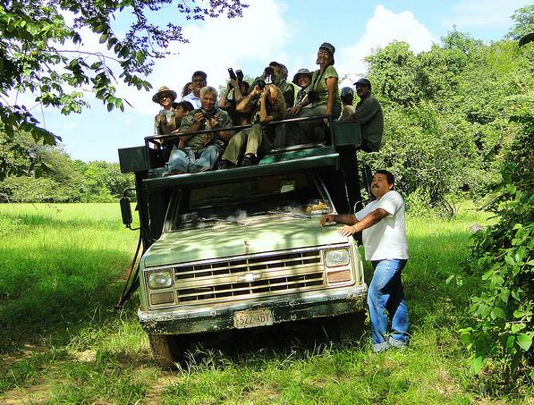Birders at Hato Piñero Venezuela. Barlo Vento