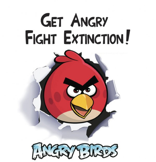 Angry birds - fight Extinction. Support Birdlife International.
